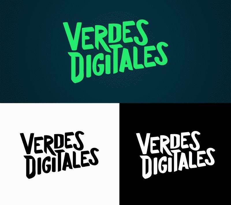 Aplicación del logo, rebranding Verdes Digitales