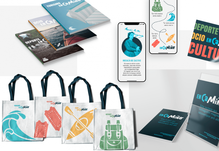 Encamiño branding visual