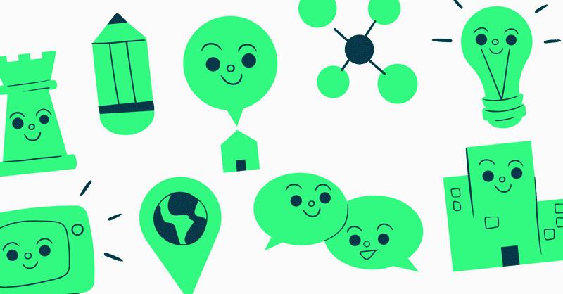 Iconos Rebranding Verdes Digitales